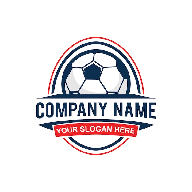 Vintage Fussball Logo Vektor Download Der Premium Vektor