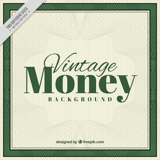 Vintage-geld hintergrund mit wellenlinien Kostenlosen Vektoren