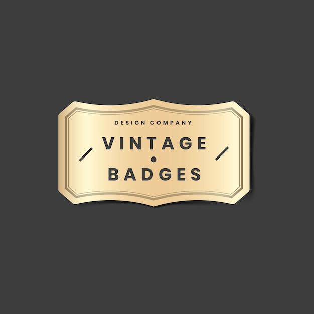 Vintage goldenes logo Kostenlosen Vektoren