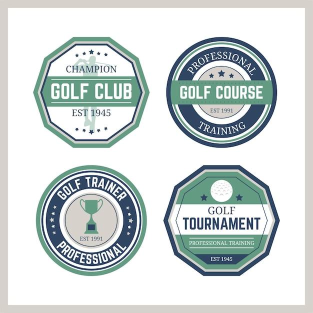 Vintage golf logo sammlung Kostenlosen Vektoren