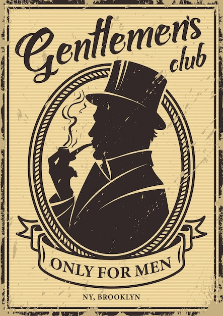 Vintage herren club poster Kostenlosen Vektoren
