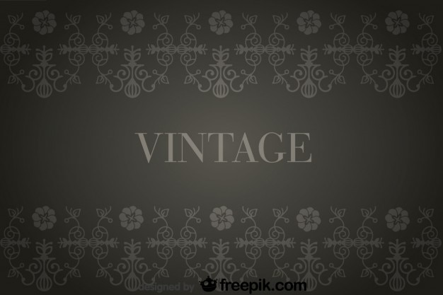 Vintage hintergrund mit blumen retro dekorationen - Vintage bilder kostenlos ...