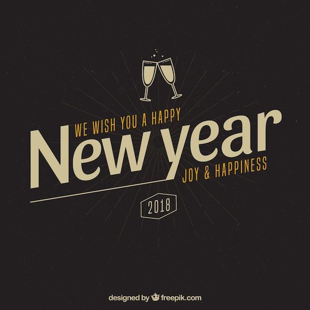 Vintage Hintergrund wünschen wir Ihnen ein frohes neues Jahr, Freude ...