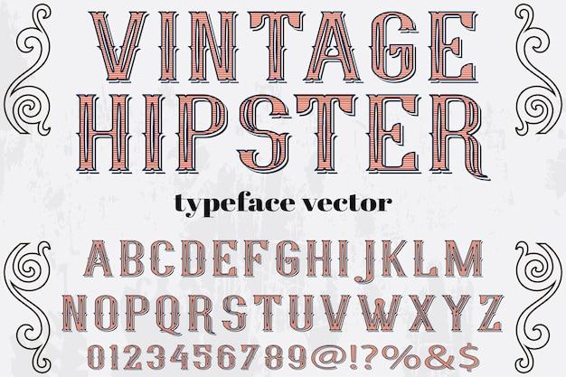 Vintage hipster schriftbild design Premium Vektoren