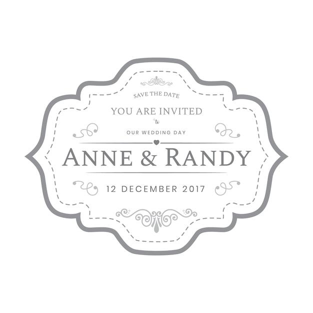 Vintage Hochzeit Etiketten Vorlage in weißer Farbe   Download der ...