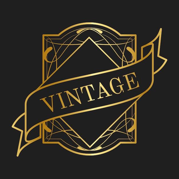 Vintage jugendstil-ausweisvektoren Kostenlosen Vektoren