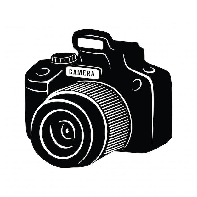 Vintage kamera schießen fotografie Premium Vektoren