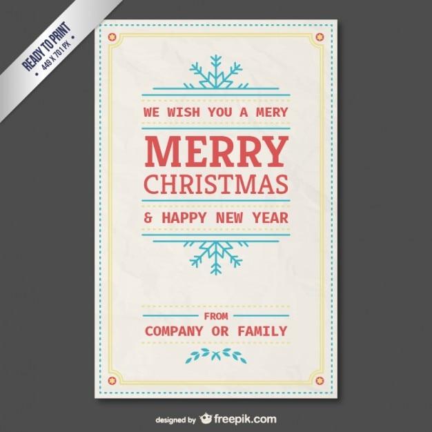 Vintage-Karte Vorlage kostenlos für Weihnachten   Download der ...