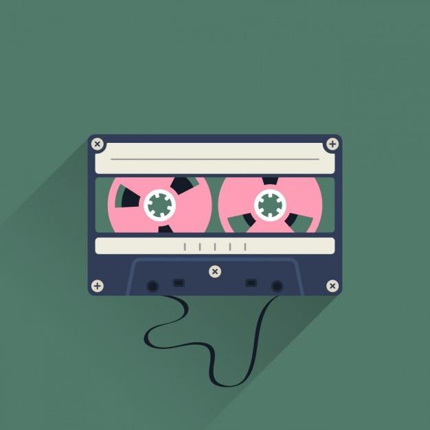 Vintage-kassette Kostenlosen Vektoren