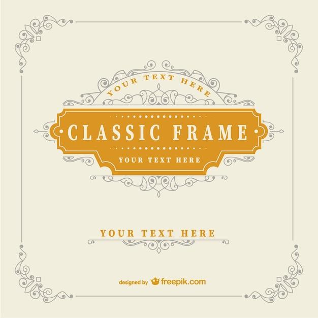 Vintage-Klassiker-Rahmen-Vorlage | Download der kostenlosen Vektor