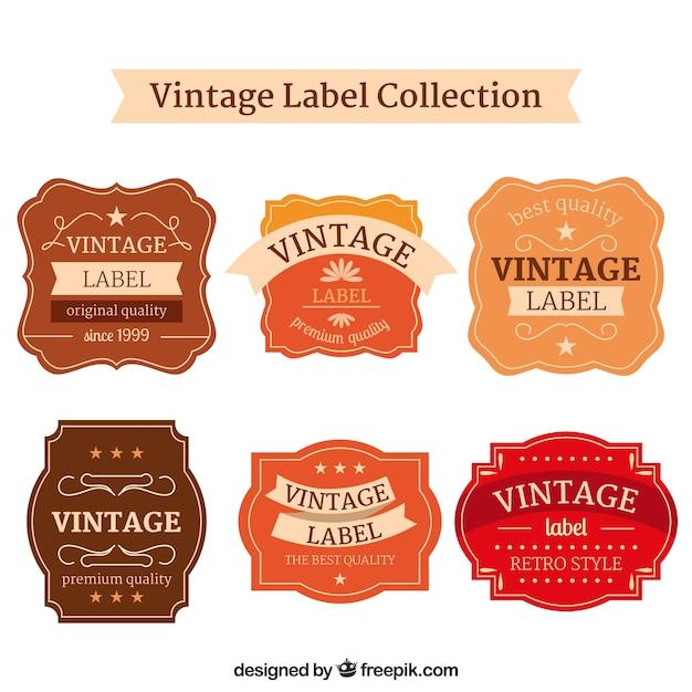 Vintage-label-sammlung Kostenlosen Vektoren
