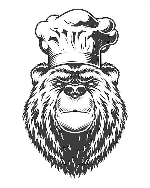Vintage logo stil bär Kostenlosen Vektoren