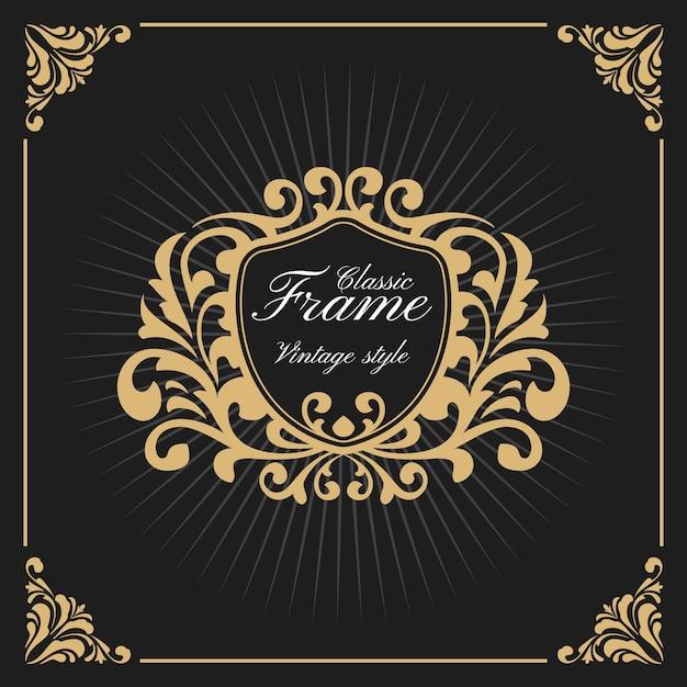 Vintage Luxus Monogramm Logo Vorlage | Download der Premium Vektor