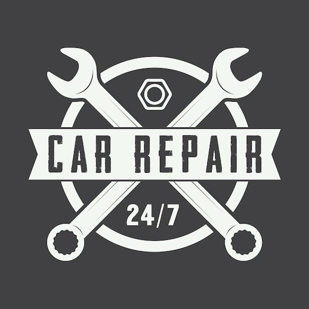 Vintage mechaniker logo Premium Vektoren