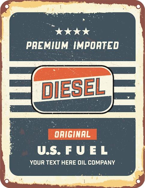 Vintage-motoröl zinnzeichen Kostenlosen Vektoren
