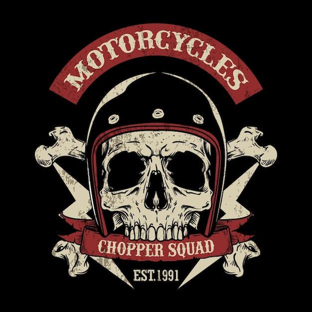 Vintage Motorrad Logo Vorlage | Download der Premium Vektor