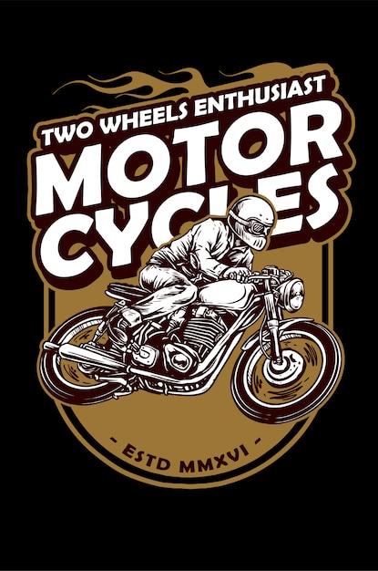 Vintage motorrad Premium Vektoren