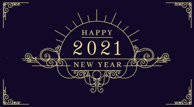 Vintage neujahr 2021 hintergrund Kostenlosen Vektoren