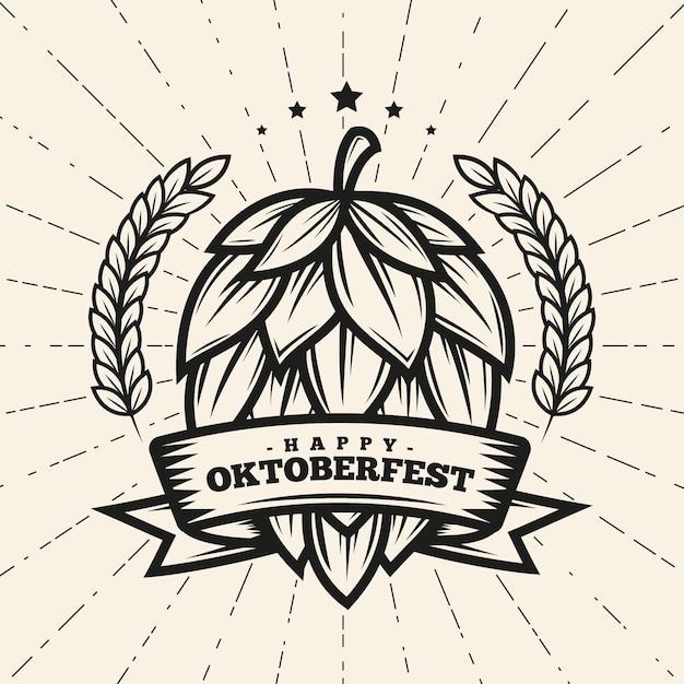 Vintage oktoberfest-konzept Kostenlosen Vektoren