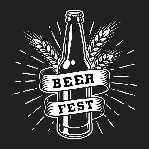 Vintage oktoberfest logo vorlage Kostenlosen Vektoren