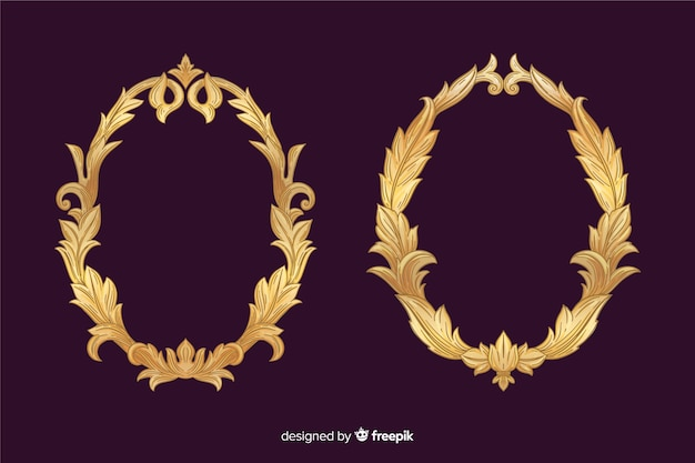 Vintage ornamentale logo festgelegt Kostenlosen Vektoren