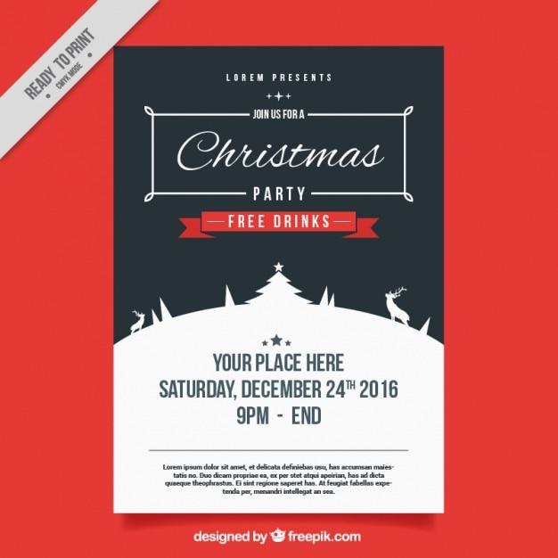 vintage plakat weihnachtsfeier download der kostenlosen. Black Bedroom Furniture Sets. Home Design Ideas