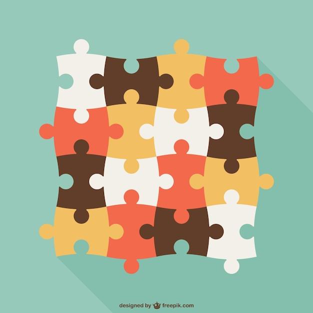 Vintage-puzzleteile Kostenlosen Vektoren