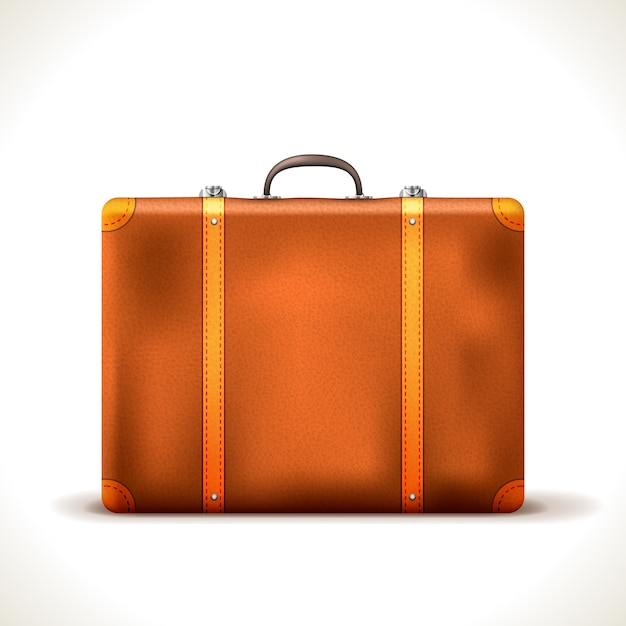 Vintage reisekoffer isoliert Kostenlosen Vektoren