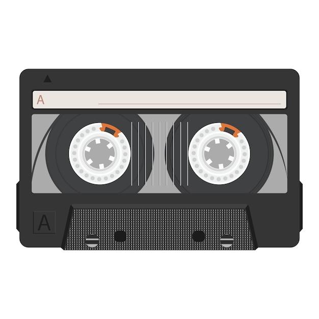 Vintage retro kassette. Premium Vektoren