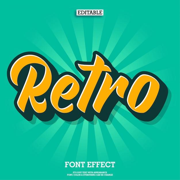 Vintage retro skriptschriftart Premium Vektoren
