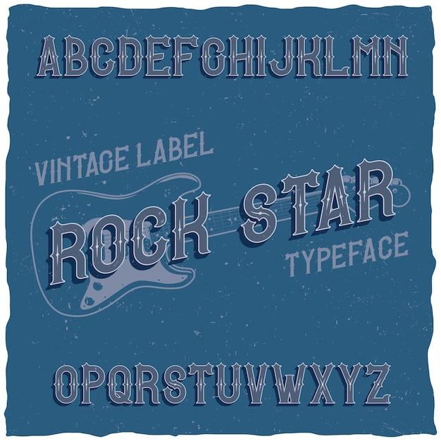 Vintage schrift namens rock star Kostenlosen Vektoren