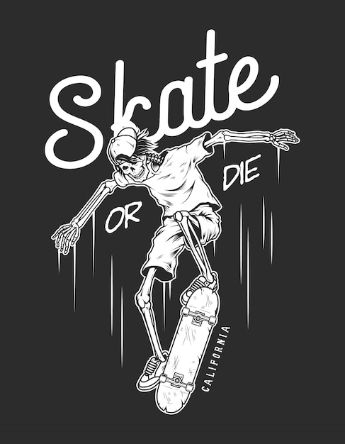 Vintage skateboarding logo vorlage Kostenlosen Vektoren