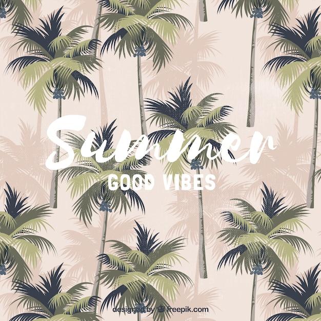 Vintage sommer hintergrund mit palmen download der kostenlosen vektor - Vintage bilder kostenlos ...