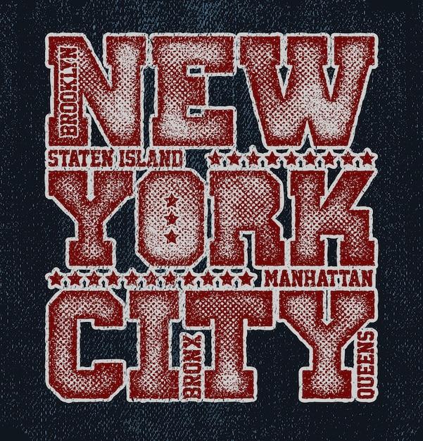 Vintage städtische typografie. new york city Premium Vektoren