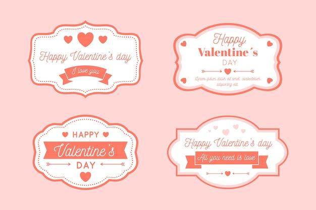 Vintage valentinstag label / abzeichen sammlung Kostenlosen Vektoren