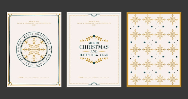 Vintage weihnachtskarten Kostenlosen Vektoren