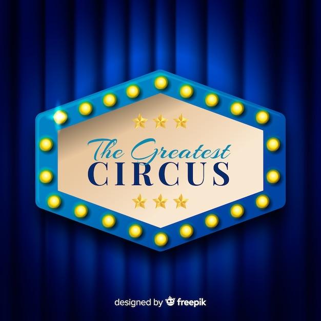 Vintage zirkuslicht zeichen hintergrund Kostenlosen Vektoren