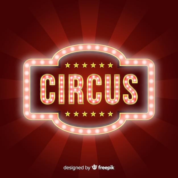 Vintage zirkuslicht zeichen Kostenlosen Vektoren