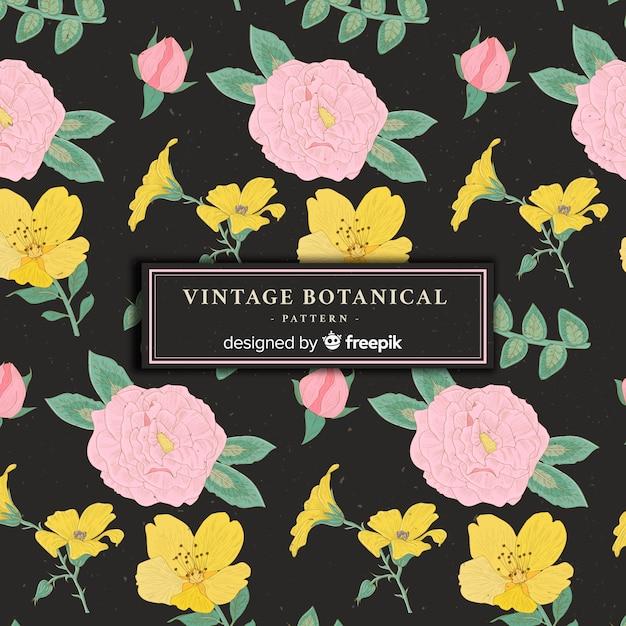 Vintages botanisches muster Kostenlosen Vektoren