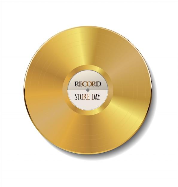 Vinyl ist zurück retro vintage hintergrund Premium Vektoren