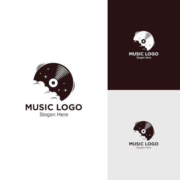 Vinyl-logo-design Premium Vektoren