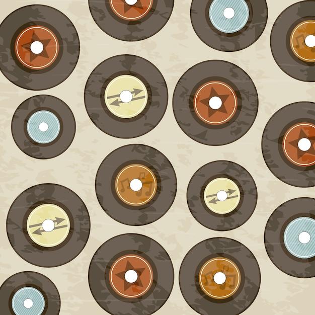 Vinyl-record-symbol über sahnehintergrund Premium Vektoren