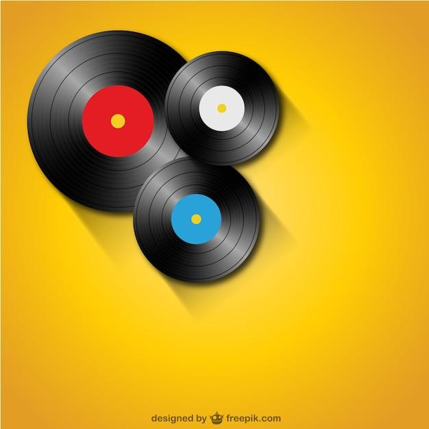 Vinyl-schallplatten kostenlose vorlage Kostenlosen Vektoren