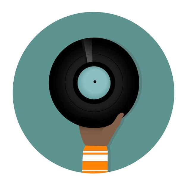 Vinylscheibe Kostenlosen Vektoren