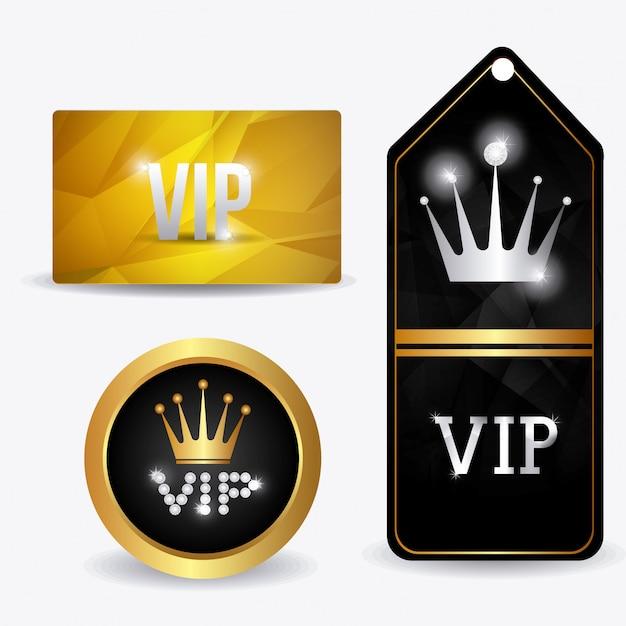 Vip design. Premium Vektoren
