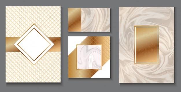 Vip-verpackungsdesign-set, luxus-briefpapier für das branding Premium Vektoren