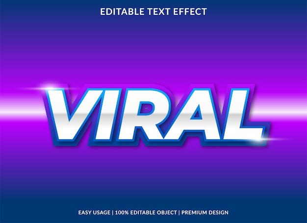 Viraler texteffekt mit verwendung im neonstil für inhaltsüberschriften Premium Vektoren