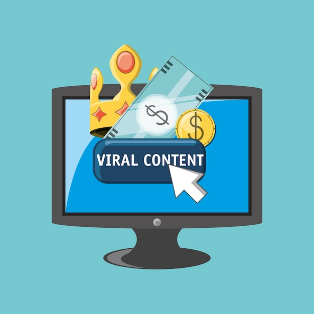 Virales content design Premium Vektoren