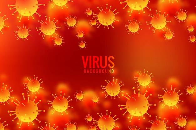 Viren und bakterien für allergiekeime hintergrund Kostenlosen Vektoren