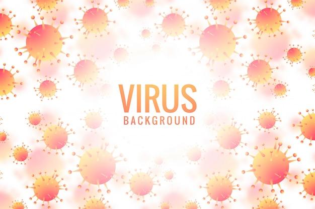Viren und bakterien für den medizinischen hintergrund Kostenlosen Vektoren